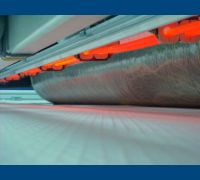 Vela membrana  lámparas Infra Red y rodillos alta carga